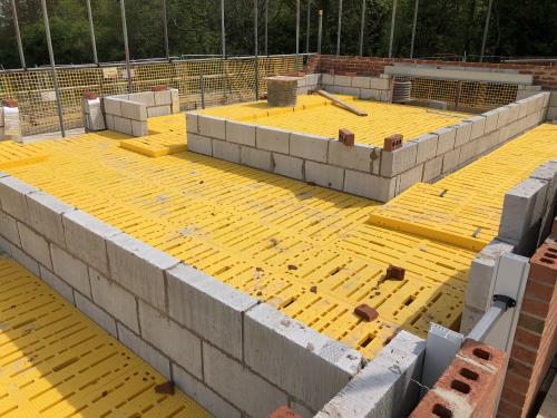 Safety decking for new builds near Blackpool, Lancashire